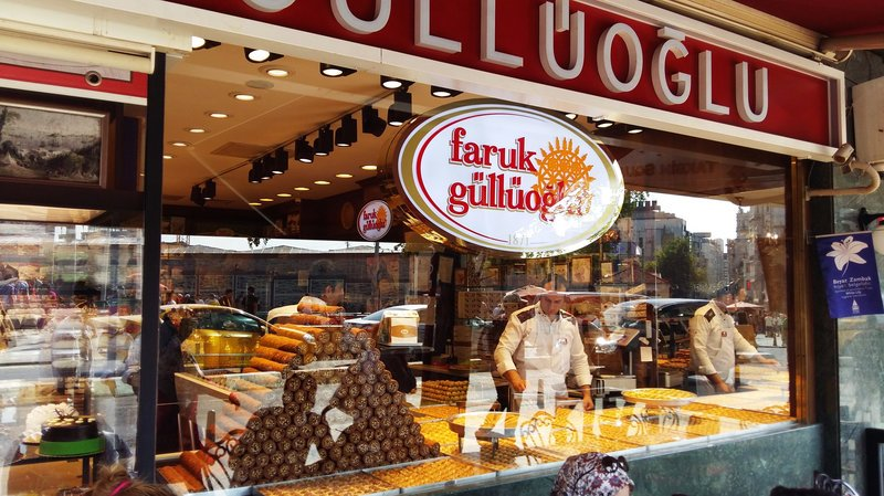 A popular Turkish baklava shop, Faruk Güllüoğlu, is one of nearly 1,000 companies expropriated by the Turkish government since last year's failed coup. The company is now run by a government trustee. Lauren Frayer/NPR