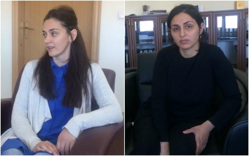 Olcay Demirez (left), Saniye Ozkan (right)