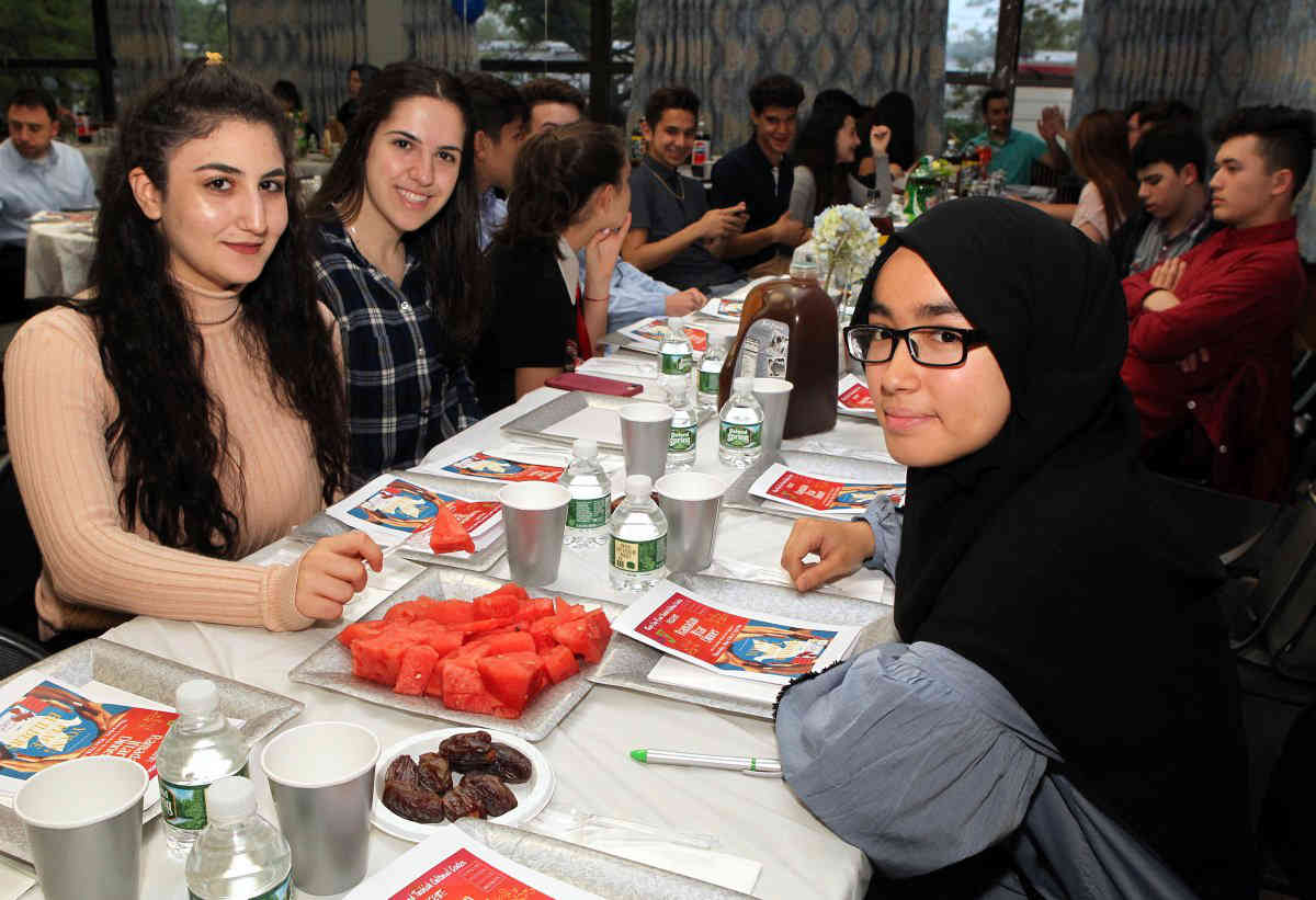 All faiths: The Kings Bay Y, a Jewish community center in Sheepshead Bay, hosted an interfaith iftar dinner for the holy month of Ramadan on May 17. Muslims, Jews, Christians and others attended.