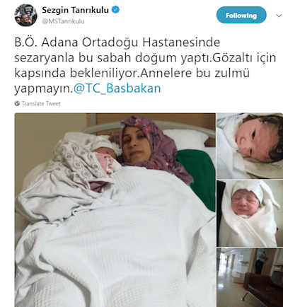 Her mother was detained right after her birth, she is now