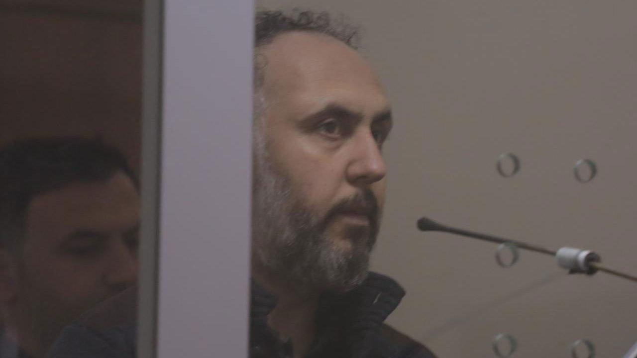 Alleged Gulenist Selami Simsek in Court in Tirana. Photo: LSA